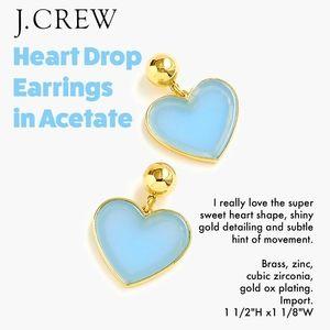 Heart Drop Earrings in Acetate